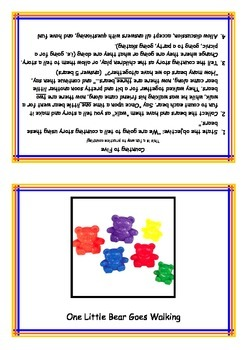 Small group Cue card--counting to 5