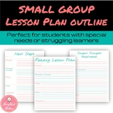 Small group Reading Lesson Plan