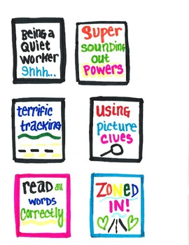 Small group reading brag tags