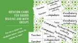 Small group rotation cards