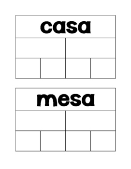 Small group silaba word work