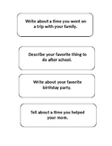 Small moment writing topics (Interactive Notebook)