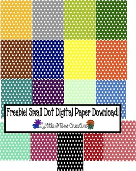 Small polka dots digital paper!