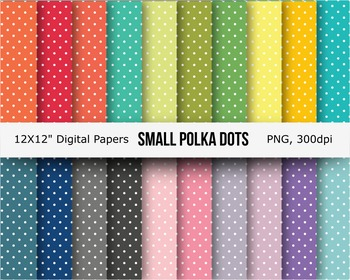 Small polka dots seamless digital papers background
