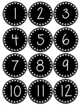 Smaller Polka Dot Number Labels 1-36 ~Freebie~