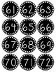 Smaller Polka Dot Number Labels 37-100