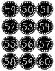 Smaller Polka Dot Number Labels 37-60