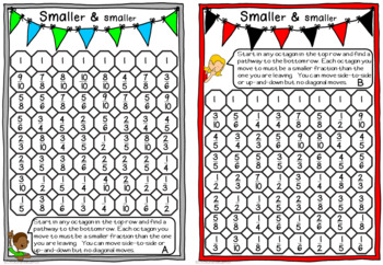 Smaller & Smaller: Fractions and Decimals Activity Cards