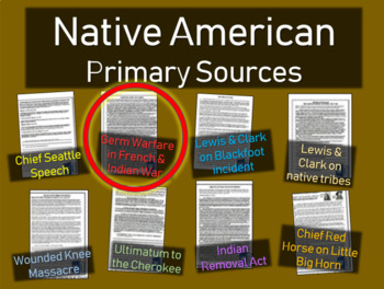 Smallpox Blanket Warfare - Native American Primary Source with guiding questions