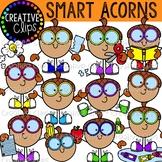 Smart Acorns {Fall Clipart}
