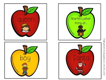 Smart Apple Nouns {FREEBIE}