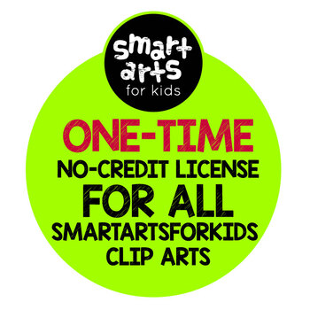 Smart Arts For Kids Clip Arts One-Time No-Credit Required Commercial License