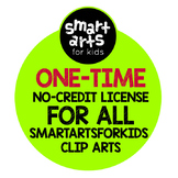 Smart Arts For Kids Clip Arts One-Time No-Credit Required