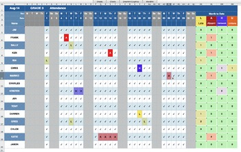 Smart Attendance Spreadsheet for Excel (2014-2015)
