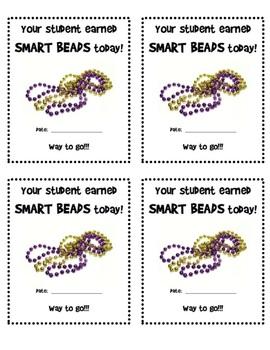 Smart Beads- Parent Note