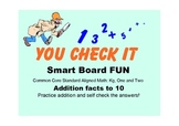 Smart Board Activity * ADDITION facts to 10 & MAGIC Self C