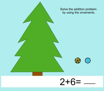 Smart Board Activity: Christmas Tree Math Counting and Adding within 10