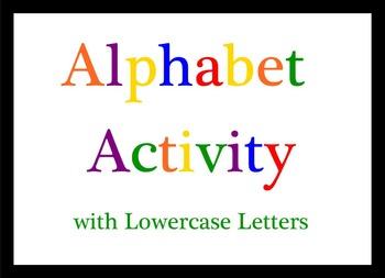 Smart Board Alphabet Activity Lowercase Letters