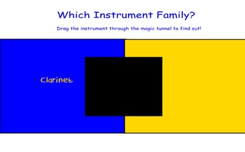 "Smart Board Activity  ""Which Instrument Family?"" Music Class Game"
