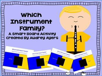 """Smart Board Activity  """"Which Instrument Family?"""" Music Class Game"""