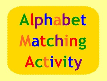 Smart Board Alphabet Activity Matching Uppper and Lowercase Letters