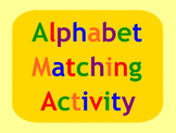 Smart Board Alphabet Activity Matching Uppper and Lowercas