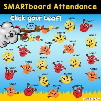 Smart Board Attendance:  Fall Leaf Fun