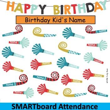 Smart Board Attendance:  Happy Birthday