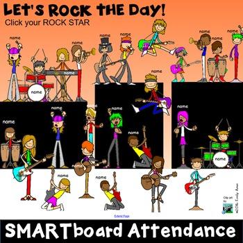 Smart Board Attendance:  Rock Stars (SMARTboard)