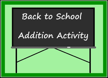 Smart Board Back to School Theme Addition Activity Through 10