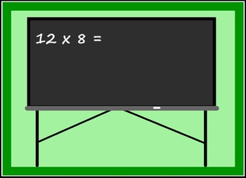 Smart Board Back to School Theme Multiplication Activity