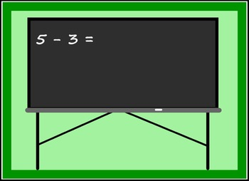 Smart Board Back to School Theme Subtraction Activity Through 5