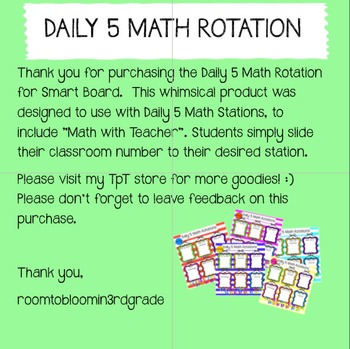 Smart Board: Daily 5 Math Rotations