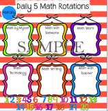 Smart Board: Daily 5 Math Rotations