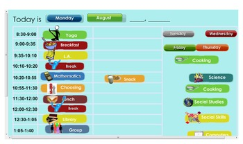 Interactive Daily Schedule Calender SmartBoard
