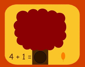 Smart Board Fall Theme Addition Activity Through 5