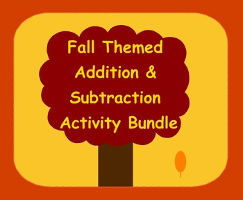 Smart Board Fall Theme Addition & Subtraction Through 5 Activity Bundle