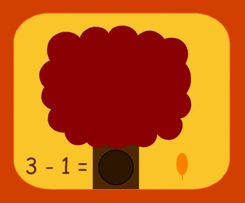 Smart Board Fall Theme Subtraction Activity Through 10