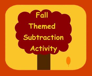Smart Board Fall Theme Subtraction Activity Through 10