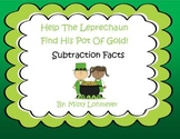 Smart Board Find The Pot of Gold St. Patrick's Day Subtraction