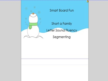 Smart Board Fun  -short a family, Real/Nonsense, Letter Sound Fluency