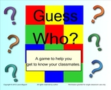 "Beginning of the Year Ice Breaker: Smart Board Game ""Guess Who"""
