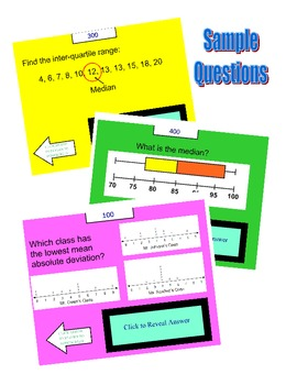 Smart Board - Grade 6 Statistics JEOPARDY Review Game