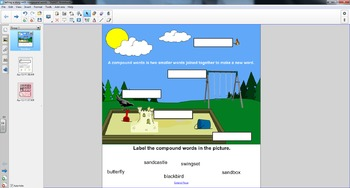 Smart Board Grammar:  Using and Reading Compound Words
