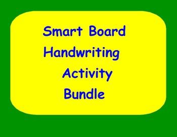 Smart Board Handwriting Activity Bundle