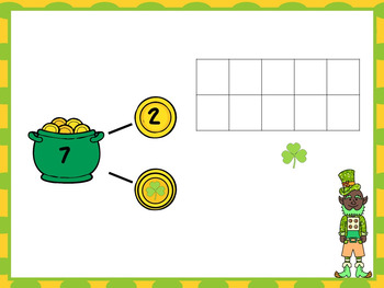 Smart Board Interactive Number Bonds -St Patrick's Day