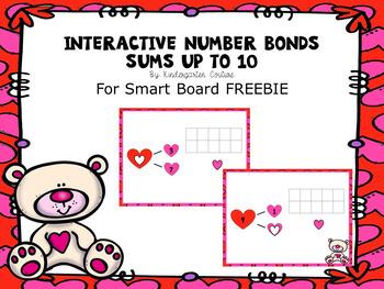 Smart Board Interactive Number Bonds -Valentine