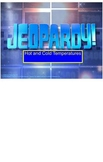 Smart Board Jeopardy Game for Science Temperature Unit