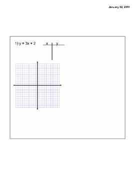 Smart Board Lesson Discovering y = mx + b
