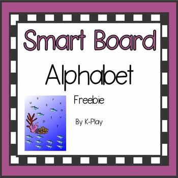 Phonics Alphabet A-Z Smart Board Ocean Fish Freebie